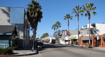 Boutiques and restaurants on Abbot Kinney Blvd.