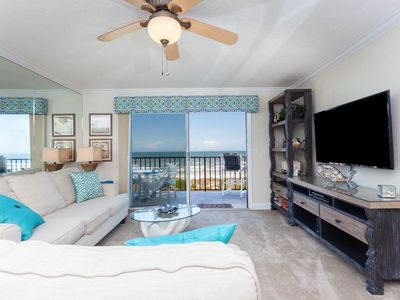 Enjoy ocean views and our HDTV! - Sit down on our comfortable, elegant couches and take in the direct ocean views and the HDTV without moving! Windjammer 214 features unobstructed ocean views from its ocean front balcony.