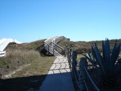easy access to the beach via the villa boardwalk (Yes there's an incline!)