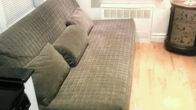 Murray Hill apartment rental - IKEA ultra comfort TempurPedic LatexGel sofa sleeper for maximum pressure relief