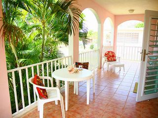 Vieques Island house photo - Enjoy morning coffee on the porch