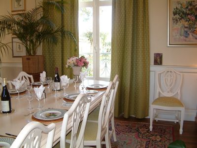 Neuville-de-Poitou cottage rental - Main dining room, Bed&Breakfast wing