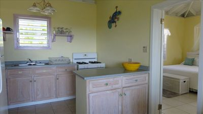 Kitchen and part of second bedroom