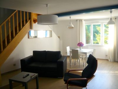 Duplex Apartment T3 in the port of Cancale 30 m from the sea