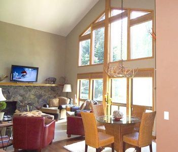 Floor to ceiling windows w/View of Mt Baldy and surrounding mountains. Game Area