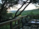 Enjoy dinner outside with views of Lake Travis