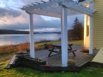 Machiasport house rental - November 2014 sunrise. Coffee on the deck and enjoy the grazing deer nearby.