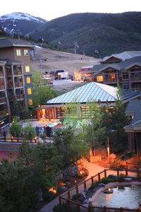 Westgate Indoor/Outdoor Pool with Canyons Ski Area gondola and heated ski lift