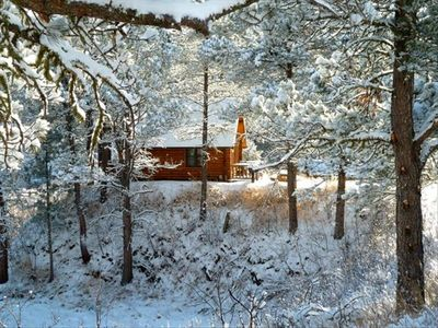 Escape to a winter wonderland: Newton Fork Ranch is an ideal retreat year-round!