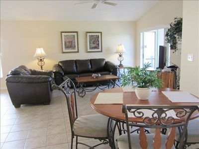 Emerald Island villa rental - Relax in our large living room with flat screen TV and DVD player
