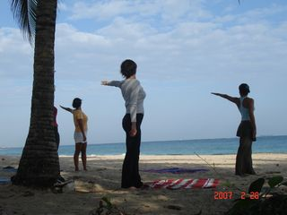 San Juan townhome photo - Yoga on our beach (Condado beach)