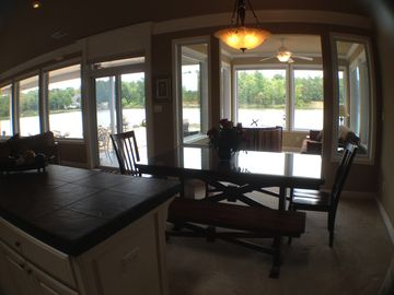 Kitchen Open to Living Rm and Ark Rm. AWESOME VIEW from Kitchen and DiningTable.