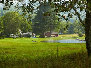 View of Home, Barn and Pond - Arlington farmhouse vacation rental photo