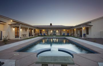 Tubac house rental - Serene interior courtyard with 38 ft. heated pool and spa.