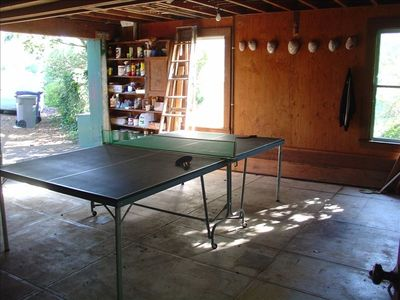 Ping pong in the garage