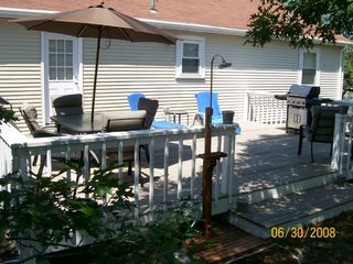 Large private deck -- great for entertaining. - Provincetown house vacation rental photo