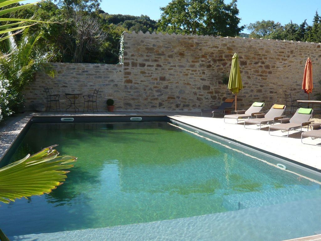 Luxurious old stone barn conversion homeaway lagrasse for Swimming pool conversion