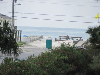 From our front balcony to the beach Great Beach Access only 200 yards