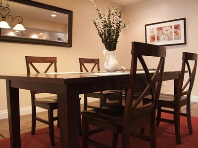 Dining area with 5 chairs