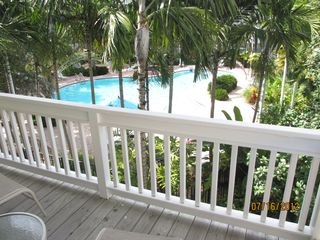 Key West house photo - View of the pool from the balcony.
