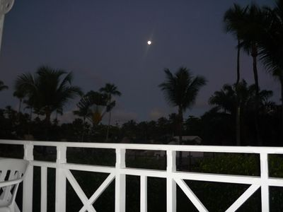 Watch the moon rise from the front balcony