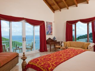 Cruz Bay villa photo - Our Master Bedroom with private balcony and breath taking views