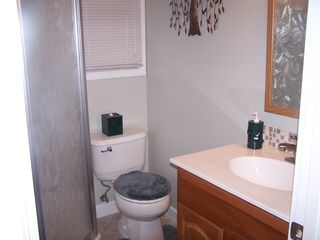 Main level bathroom with shower - Claytor Lake house vacation rental photo