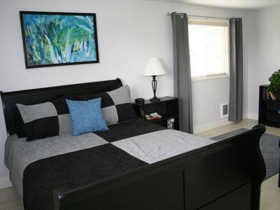Larger bedroom with view window and lots of closet space.
