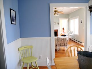 Falmouth house photo - a bright and clear view through the downstairs rooms!