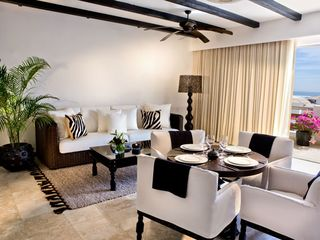San Jose del Cabo villa photo - Living Room and Dining Area at the Cabo Azul Resort