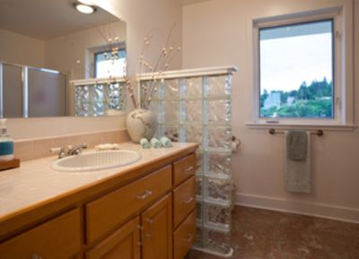Master bath with lagoon views