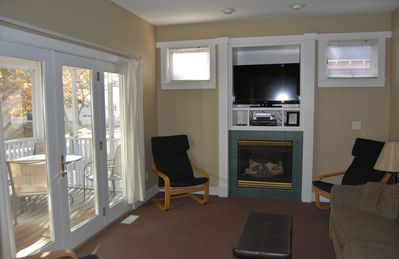 Michigan City house rental - Living Room With Flat Screen TV