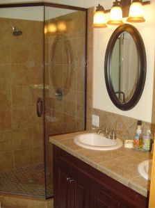 Upgraded Master Bathroom with walk-in shower