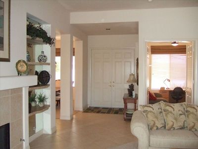 La Quinta house rental - FRONT DOUBLE DOORS - FOR WHEELCHAIR