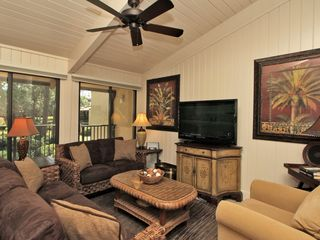 Forest Beach condo photo - Main Living Area with Ceiling Fan