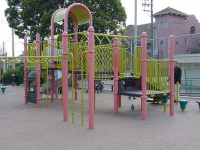 Duboce Park playground is a short walk from the apartment.