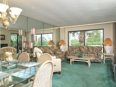 Large comfortable Living Room with golf course views!