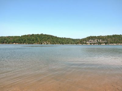 Beaver Lake house rental - lakeview from boat launch 1 mile from property