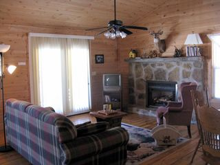 Muddy Pond cabin photo - cozy living room
