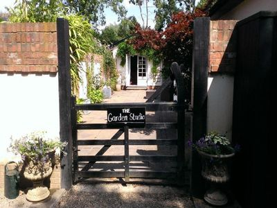 The private entrance to the Garden Studio.
