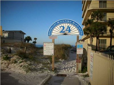 Beach Access #24 is Within approx. 75 Yards from our Condo