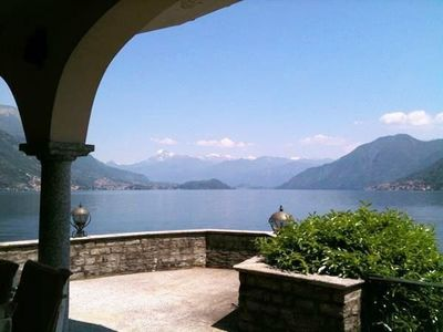 The impressive lake views from Villa Leonardo