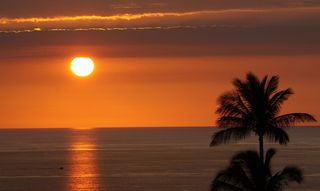 Wailea condo photo - Sunset view from the lanai