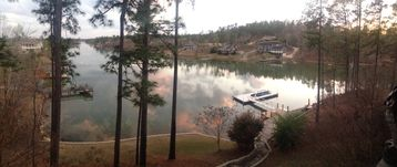 Lake Martin house rental - Panorama View from the Upper Deck