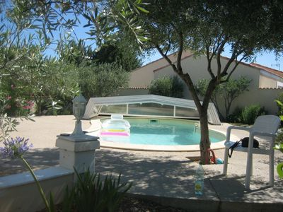 Near Cap d'Agde BESSAN VILLA WITH storey private covered POOL