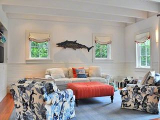 Edgartown house photo - Casual Living Area Opens Out To Bluestone Patio & Backyard