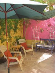 Loreto house photo - Private, shaded garden outside dining/kitchen area
