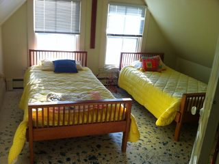 Bedroom with two twin sized beds - perfect for kids or adults.
