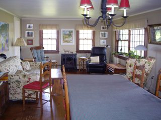 Block Island house photo - dining room/ family room/ seats 6 at table