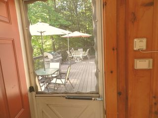 Moultonborough house photo - Entrance to Deck fr Sunroom.